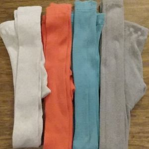 Hanna Andersson lot of 4 footless tights 160